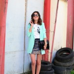 Paillettes and blazer