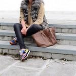 Fur+sneakers