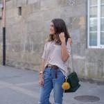 knit top beige