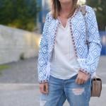 Fringed blue jacket